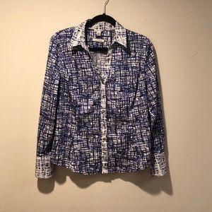 Calvin Klein blouse buttons down long sleeve L